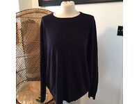 Marks and Spencer women's blue jumper size 24