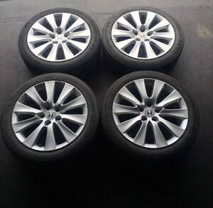 "18"" OEM Honda Accord alloy rims with tpms sensors"