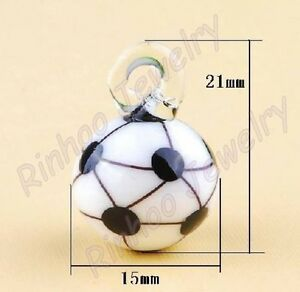 Glass soccer ball charm---NEW!!