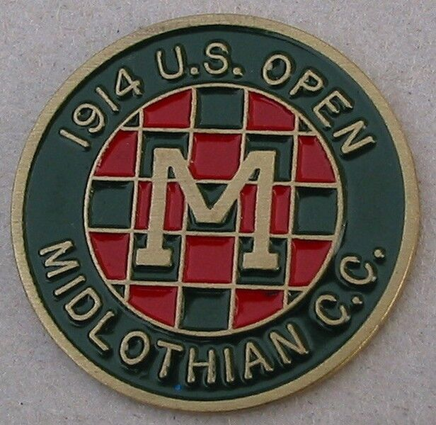 AN ORIGINAL GOLFDESIGN BALL MARKER - SOMETIMES WITH A PLAIN BACK OR STAMPED TO THE REVERSE.