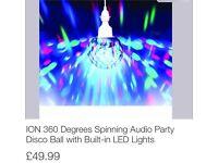 360 degree spinning disco light