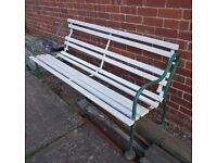 Garden Bench Vintage needs doing up with iron ends and wooden slats