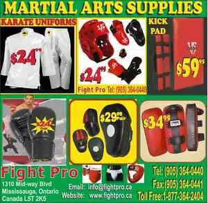 MARTIAL ARTS SUPPLIES,SAVE 70%OFF (905)364-0440 WWW.FIGHTPRO..CA