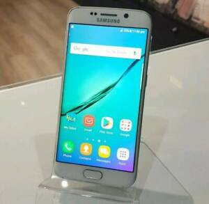 AS NEW SAMSUNG GALAXY S6 EDGE 32 WHITE WITH WARRANTY