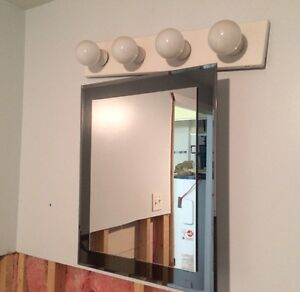 Bathroom vanity/cabinet and light $40 West Island Greater Montréal image 2