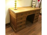 Pine Pedestal Desk custom made