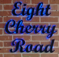 Gorgeous Glowing Address Signs Perfect for Your Home or Business