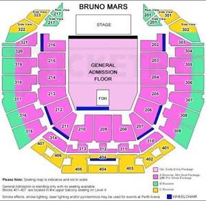 Bruno Mars 24K Magic Tour 1 x Ticket for Perth Concert Thurs 29th Coogee Cockburn Area Preview