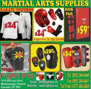 KARATE, TAEKWONDO, JUDO UNIFORMS, ,SAVE 75% ON ALL MARTIAL ARTS UNIFORMS SUPPLIES (905) 364-0440  WWW.FIGHTPRO.CA