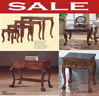 nesting tables, end table, lamp tables, office writing desks