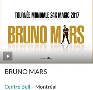 Bruno Mars Aug. 30, 2017 Tickets!   West Island Greater Montréal image 1