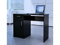Computer PC Study Writing Desk Table Drawer Cabinet Storage Unit For Home Office --black