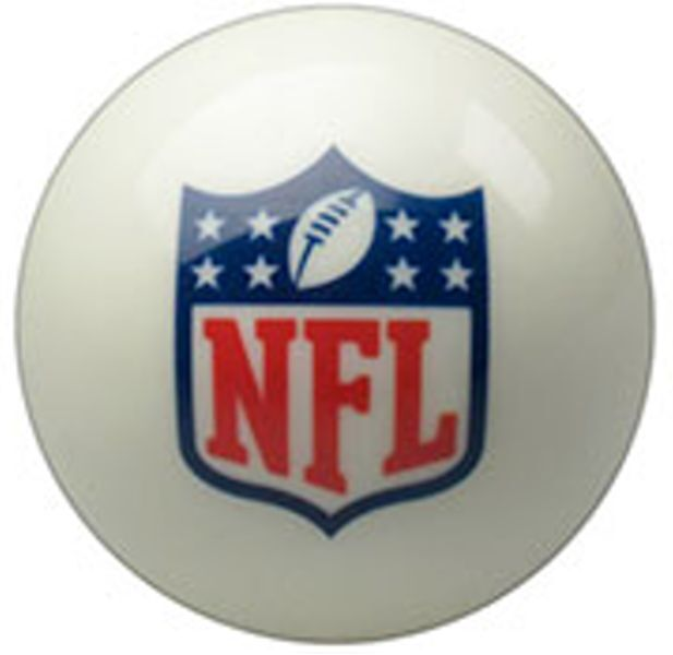 New NFL Cue Ball - Official / 8 Ball - WHITE - 2 1/4 inch - FREE US SHIPPING