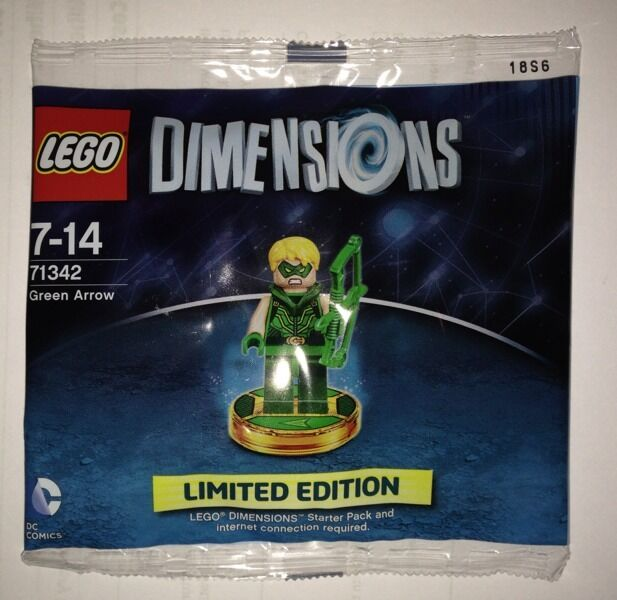 Lego Dimensions Exclusive Green Arrow New