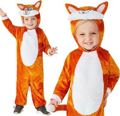 Baby & Kleinkinder Katzen Kostüm Kinder Pussycat Anzug von Smiffys (Orange Katze Kostüm Kind)