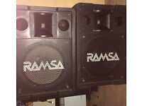 Ramsa WS-A200E pa speakers
