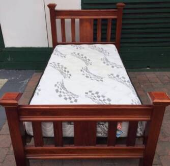 Excellent solid wooden king single frame and Pillow Top mattress