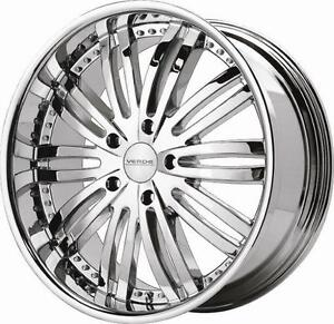 20 INCH VERDE MADONNA CHROME WHEELS SUIT BMW 5 & 7 SERIES *ON SPECIAL*