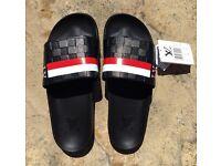 Louis Vuitton Black/Red Slides/Flip Flops