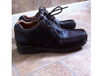 Brown leather kickers size 7 mens boys boots shoes