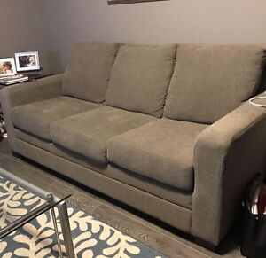3 Seater Couch in Tan with 5 year warranty Regina Regina Area image 1