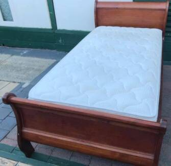 Excellent wooden king single bed frame plus Pillow Top mattress