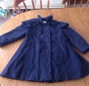 Vintage wool coat made in Canada by Woodland. Size 3