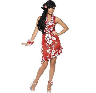 Ladies Hawaiian Beauty Fancy Dress Costume Luau Dress by Smiffys