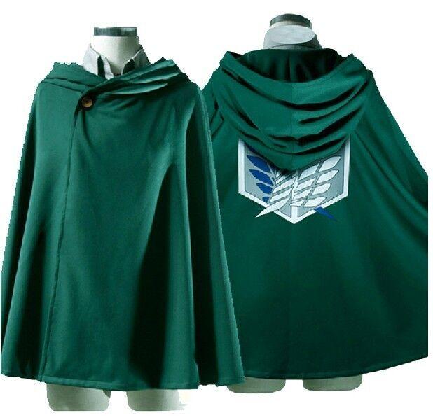 Japan  Shingeki No Kyojin Cloak Attack on Titan Cosplay Cloth Green