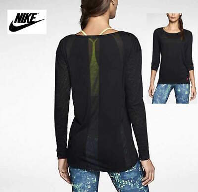 NWT NIKE Women's Sz. S Active Grid Burnout Long Sleeve Training Top Shirt 630978 Active Long Sleeve Training Top