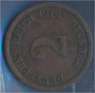 Deutsches Reich Jägernr: 11 1916 F sehr schön Bronze 1916 2 Pfennig (7848968