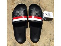 Louis Vuitton Black/Red Slides/Flip Flops
