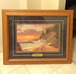 Cottage picture and frame