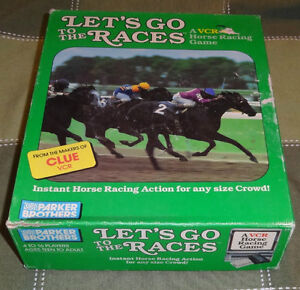 Let's Go to the Races Parker Brothers VCR Board Game