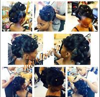 HAIR SERVICES- WEAVES WITH CLOSURE- TWIST -BRAIDS- EYELASHES-