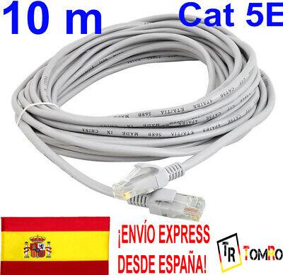 10m Cable de red RJ45 Cat 5E UTP Ethernet 10 metros Flexible...