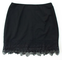 Brand New Black Skirt with lace detail Size Large - reg. $60
