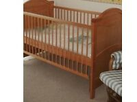 Solid pine mothercare cot bed pick up bs5 dismantled ready to go