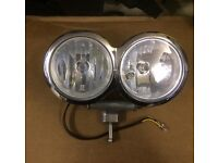 Harley Davidson Twin Headlight assembly complete
