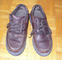 Rockport Boat Shoes 10.5W Brown Leather