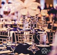 Candelabras and crystal globes for rent- lowest $$$