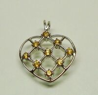 Valentines Present! 1.17 Ct Citrine Heart Shaped Pendant