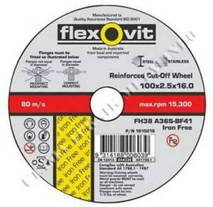 BOX OF 100 - CUTTING WHEEL 100 X 2.5 X 16.0 - STEEL, STAINLESS