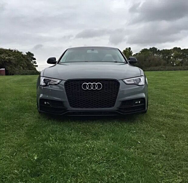Audi Rs5 Grill Front Grill 2012 2015 Black Edition Fits