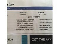 Front Row Rod Stewart Belfast 14/11/16 x2