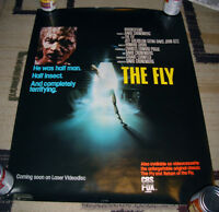 ROLLED 1987 THE FLY DAVID CRONENBERG JEFF GOLDBLUM VIDEO POSTER