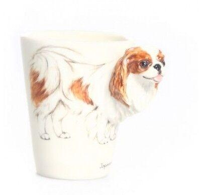 Blue Witch 3D -Japanese Chin Dog Ceramic Hand Crafted Coffee Mug