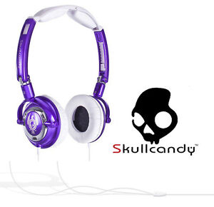 Skullcandy Lowrider Headphone, Purple & White