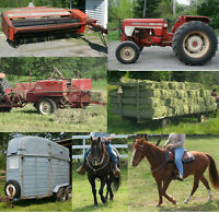 FARM SALE! HayBine Baler Tractor Tedder Hay Wagon Trailer Horses