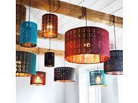 Brand New IKEA Nymo Lampshade - Copper & Burgandy - 37cm
